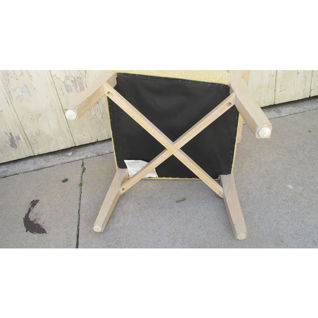 Vintage 1970s X-Form Yellow Vanity Chair - Image 4 of 6