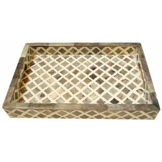 Moroccan Inlaid Bone Patterned Tray