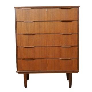 Søren Danish Modern 5 Drawer Teak Dresser