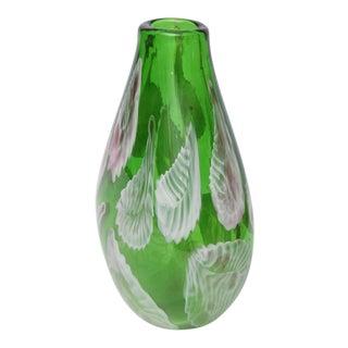 Heavy Murano Green Vase, Italy, 1960s