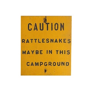Rustic Campground Warning Sign