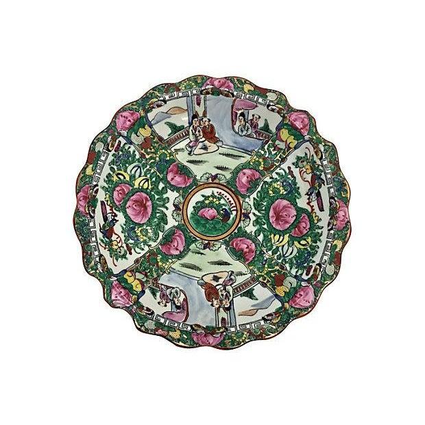 Image of Famille Rose Salad Bowl & Plates - Set of 5
