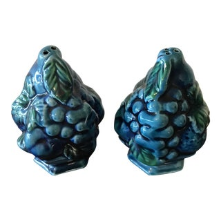 Vintage Fruit Topiary Salt & Pepper Shakers - A Pair