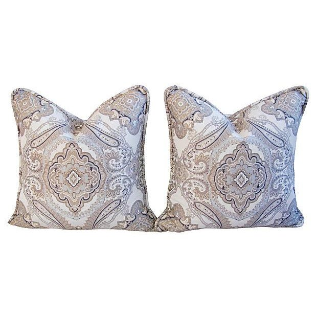 Rodin Pewter Medallion Pillows - A Pair - Image 6 of 6