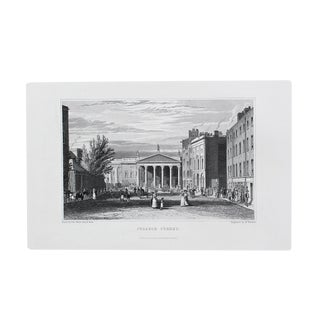 "1845 Antique ""College Street"" Engraving"