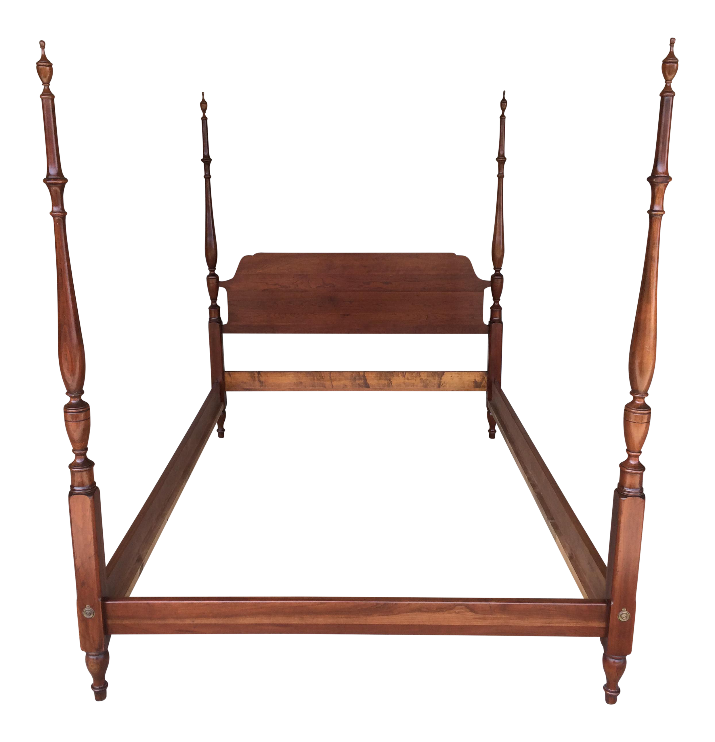 Pennsylvania House Poster Solid Cherry Candlelight Finish Chippendale  Double Bed Frame