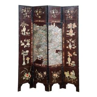 Chinese Coromandel Four-Panel Folding Screen