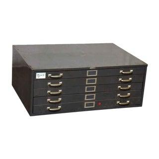 Vintage Metal Flat File Box
