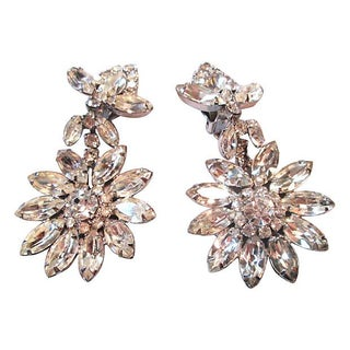 1940s Rhinestone Earrings