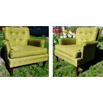 Image of Mid-Century Club Chairs - A Pair