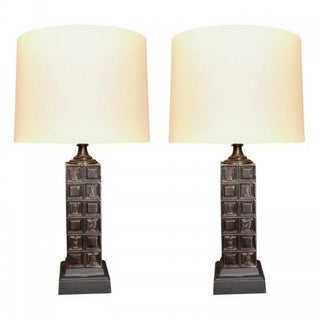 "Mid-Century ""Chess"" Lamps by Baker - Pair"