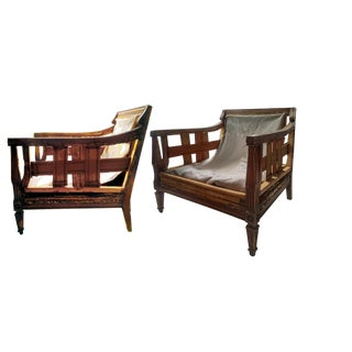 Swedish Bergere Chairs - A Pair