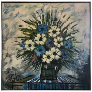 Tommy Lee Flowers in a Vase Oil Painting