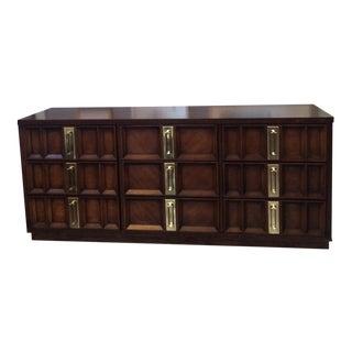 Mid-Century Dresser With Brass Hardware