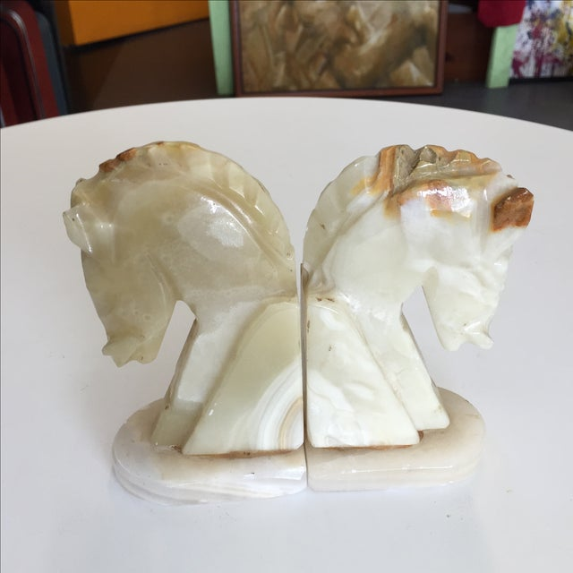 Marble Horse Bookends - A Pair - Image 2 of 5
