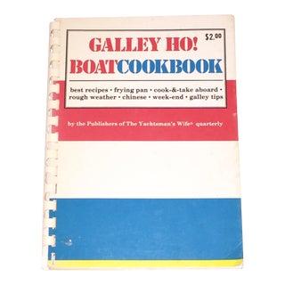1972 Vintage Galley Ho! Boat Cookbook