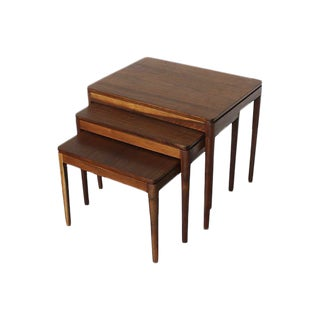 Kipp Stewart for Drexel Walnut Nesting Tables - Set of 3