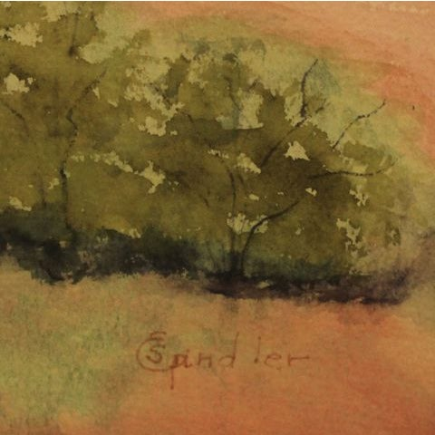 """Watercolor Artwork """"Afternoon Storm in New Mexico"""" - Image 3 of 5"""