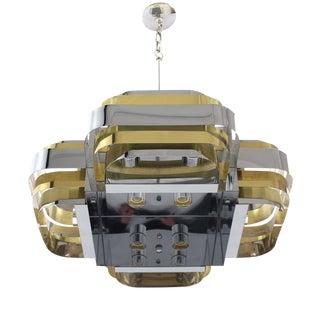 Brass and Chrome Light Fixture