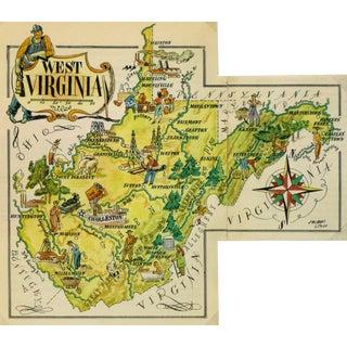 Vintage 1946 West Virginia Pictorial Map