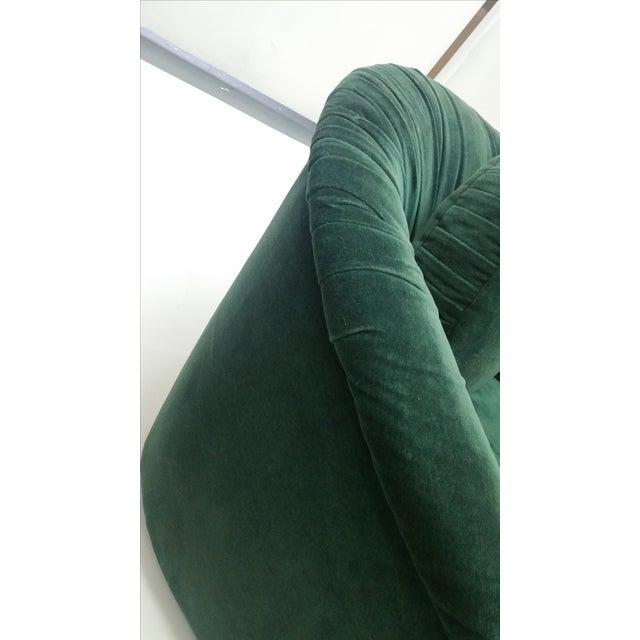 Image of 80's Rushed Velvet Swivel Chair