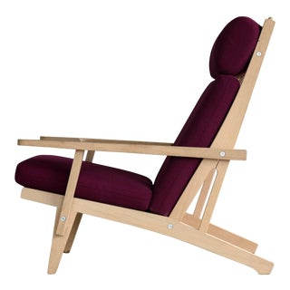 Hans Wegner for GETAMA Model GE375 Oak High Back Easy Chair