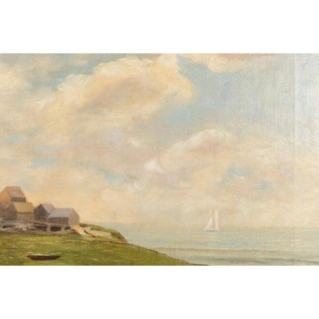 19th-Century Sea Shore Landscape - Image 7 of 10