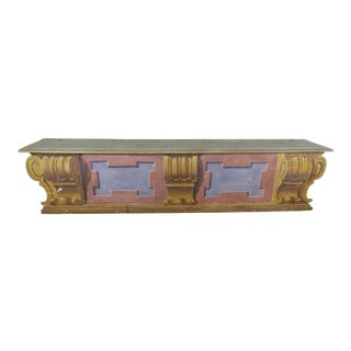 19th C. Italian Painted Bench/Cassone