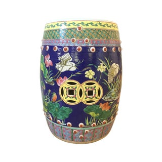 Vintage Hand Painted Multicolor Garden Stool