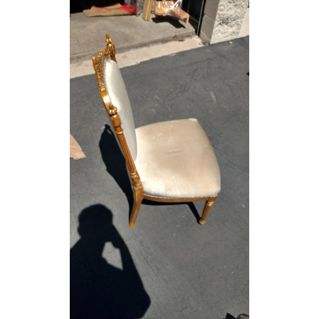 French Giltwood Accent chair - Image 3 of 6