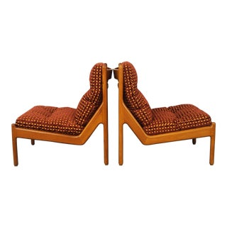 Danish Teak Lounge Chairs by Niels Bach