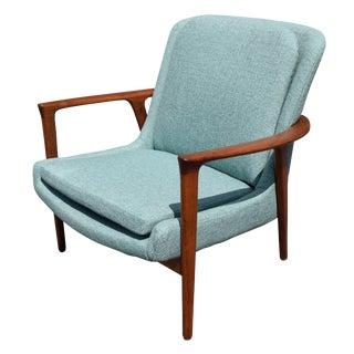 Danish Modern Lounge Teal Chair