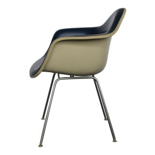 Blue Naugahyde Chair By Charles & Ray Eames For Herman Miller