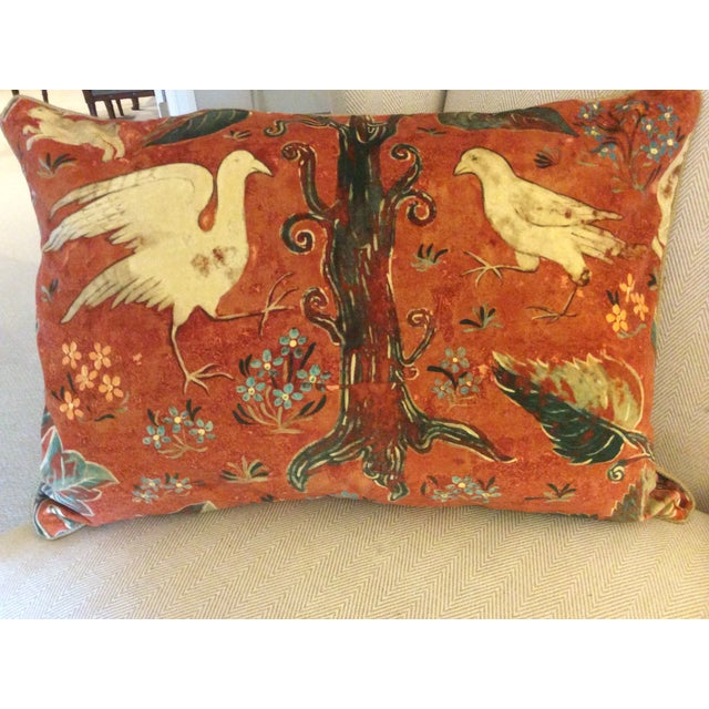 Melissa White Zoffany Arden Red Down Pillow - Pair - Image 3 of 6