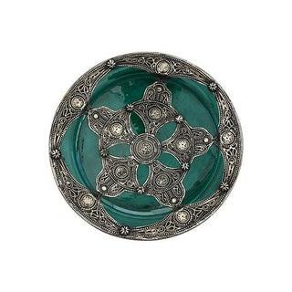 Moorish Design Green Moroccan Plate