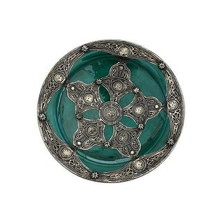 Moorish Design Green Moroccan Plate