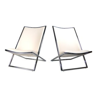 Scissor Lounge Chairs by Ward Bennett