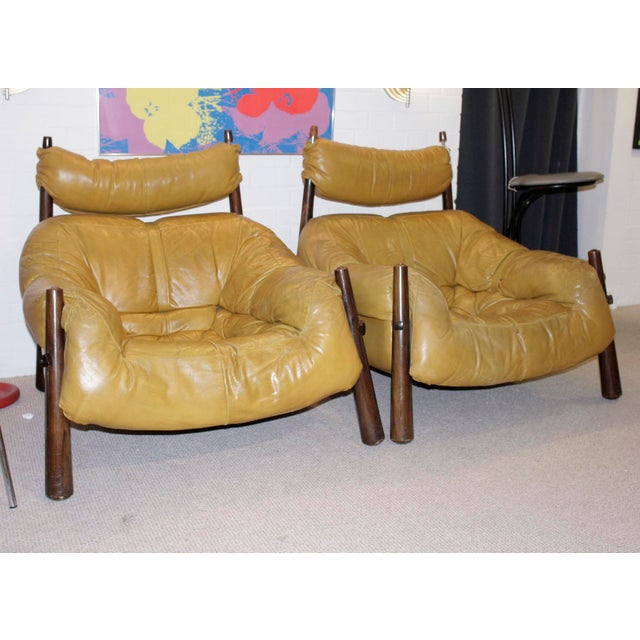 Percival Lafer Leather Armchairs - A Pair - Image 2 of 4