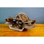 Image of Vintage Industrial Hay Trolley, Double Pulley