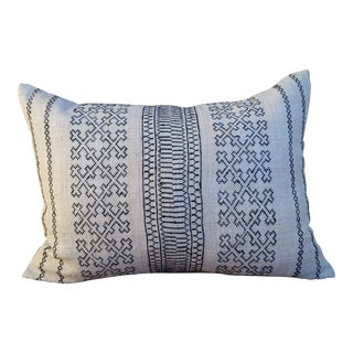Embroidered Linen Hill Tribe Pillow