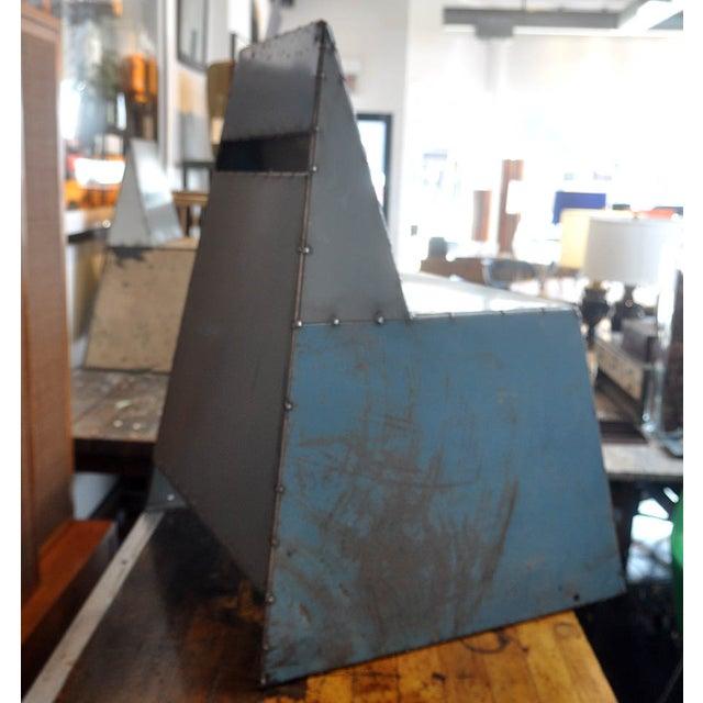 "Blue Metal ""Shoebox"" Chair - Image 4 of 6"