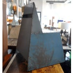 "Image of Blue Metal ""Shoebox"" Chair"