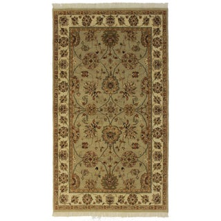 "RugsinDallas Indian Hand-Made Rug - 4'7"" X 8'2"""