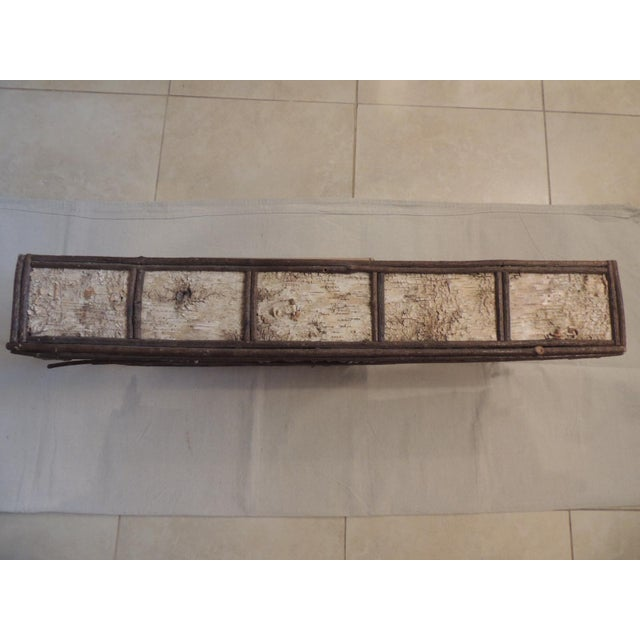 Primitive Adirondack Rustic Window Cornice - Image 5 of 6