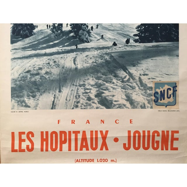Vintage 1955 French Alps Original Ski Poster - Image 4 of 4