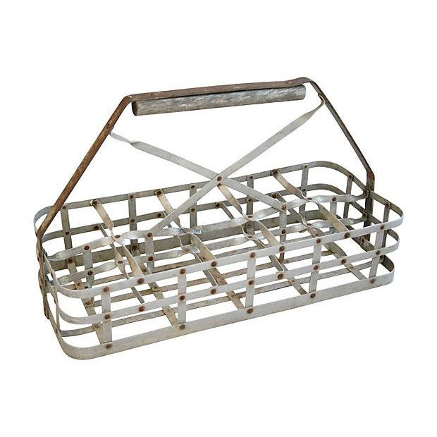 Image of Antique French 10-Bottle Carrier