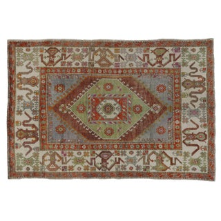 "Boho Chic Modern Tribal Design Turkish Oushak - 5'11"" x 8'08"""