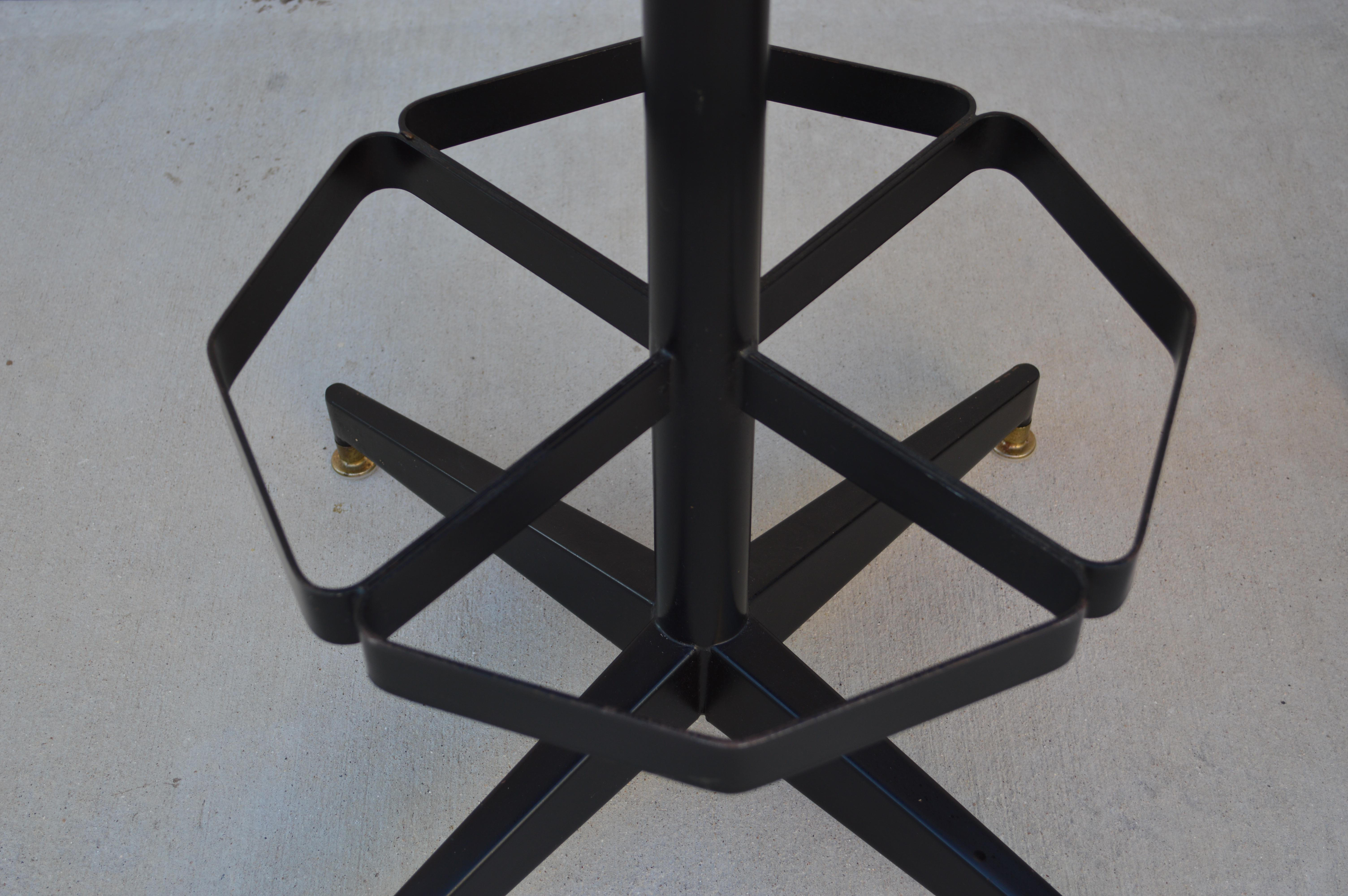 Vintage Chromcraft Black Vinyl Bar Stools Set Of 4