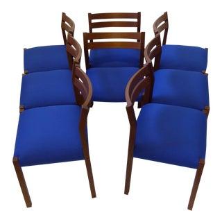 Eight 1974 Jørgen Henrik Møller Modern Teak Dining Chairs
