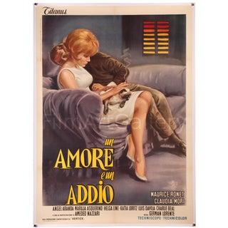 """Vintage 1964 Italian film poster """"Un Amore E Un Addio"""""""